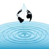 wireframe för wave för droppjorddatalista stock illustrationer