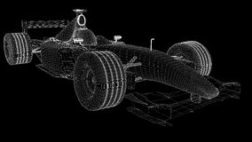 Wireframe f1. A wireframe of a formula one car Stock Photos