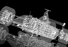 Wireframe formula one Royalty Free Stock Photos
