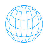 Wireframe globe Stock Photography