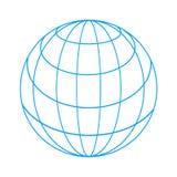 Wireframe globe Stock Photography