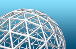 Wireframe globe Royalty Free Stock Photography