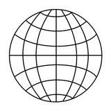 Wireframe globe Royalty Free Stock Photos