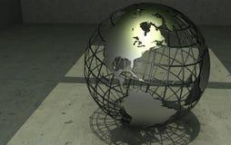 Wireframe globe Stock Image