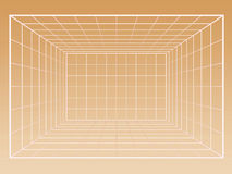 Wireframe grid of interior Royalty Free Stock Photo