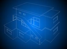 A wireframe home model Royalty Free Stock Photo