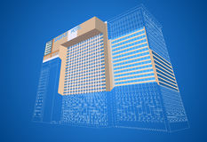 Wireframe hotel plaza Royalty Free Stock Photography