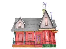 Wireframe house Royalty Free Stock Photos