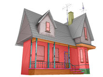 Wireframe house Royalty Free Stock Images