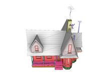 Wireframe house Royalty Free Stock Image
