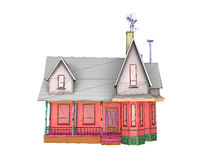 Wireframe house Stock Image