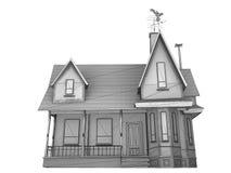 Wireframe house Stock Photo