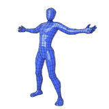 Wireframe human figure open arms Stock Photography