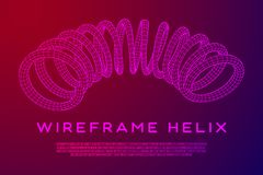 Wireframe helix spring Stock Image