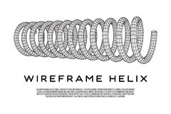 Wireframe helix spring Royalty Free Stock Images