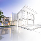 Wireframe mansion Stock Image