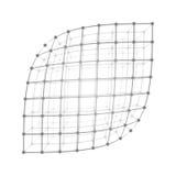 Wireframe-Maschenblatt stock abbildung