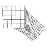 Wireframe Mesh Bend Box. Connection Structure. Digital Data Visualization Concept. Vector Illustration Royalty Free Stock Photography