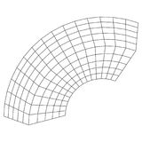Wireframe Mesh Bend Box. Connection Structure. Digital Data Visualization Concept. Vector Illustration Stock Image