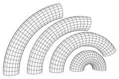 Wireframe Mesh Bend Column Immagine Stock Libera da Diritti