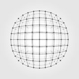 Wireframe mesh a circle stock illustration