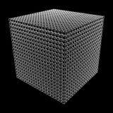 Wireframe Mesh Cube illustration libre de droits
