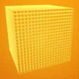 Wireframe Mesh Cube Fotos de archivo libres de regalías
