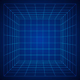 Wireframe Mesh Cube Fotos de archivo
