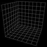 Wireframe Mesh Cube Imagenes de archivo