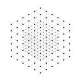 Wireframe mesh cube stock illustration
