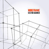 Wireframe Mesh Cubes Stockfotografie