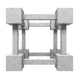 Wireframe Mesh Dotwork Vector Cube Stock Photo