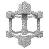 Wireframe Mesh Dotwork Vector Cube Royalty Free Stock Photography