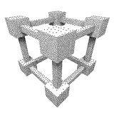 Wireframe Mesh Dotwork Vector Cube Stock Image