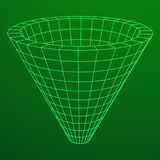 Wireframe Mesh Funnel Stock Photography