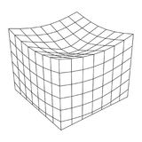 Wireframe Mesh Melt Box. Connection Structure. Digital Data Visualization Concept. Vector Illustration Stock Photos