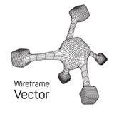 Wireframe Mesh Molecule Stockbilder