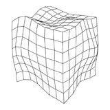 Wireframe Mesh Noise Box Royalty-vrije Stock Foto's