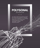 Wireframe mesh polygonal background. Wave with Stock Images