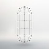 Wireframe mesh Polygonal capsule. The capsule of Royalty Free Stock Image