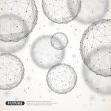 Wireframe mesh polygonal elements stock illustration