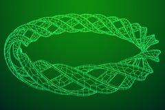 Wireframe mesh ring Royalty Free Stock Photos