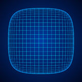 Wireframe Mesh Rounded Box vector illustratie