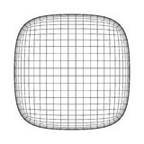 Wireframe Mesh Rounded Box Stock Image