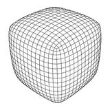 Wireframe Mesh Rounded Box Stock Images