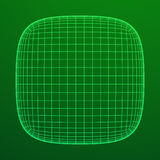 Wireframe Mesh Rounded Box Royalty Free Stock Image