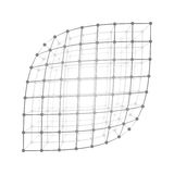 Wireframe mesh sheet Royalty Free Stock Photos