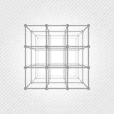 Wireframe mesh square Royalty Free Stock Photo