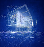 Wireframe modern construction Royalty Free Stock Photos