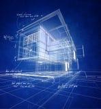 Wireframe moderne bouw vector illustratie